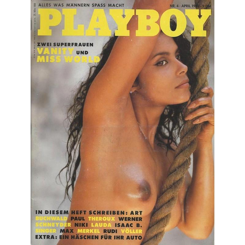 Playboy Nr.4 / April 1988 - Vanity (Denise Matthews)