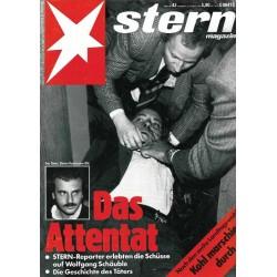 stern Heft Nr.43 / 18 Oktober 1990 - Das Attentat