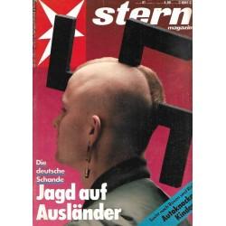 stern Heft Nr.41 / 2 Oktober 1991 - Jagd auf Ausländer