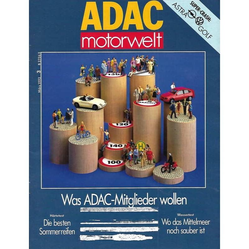 ADAC Motorwelt Heft.3 / März 1992 - Was ADAC Mitglieder wollen