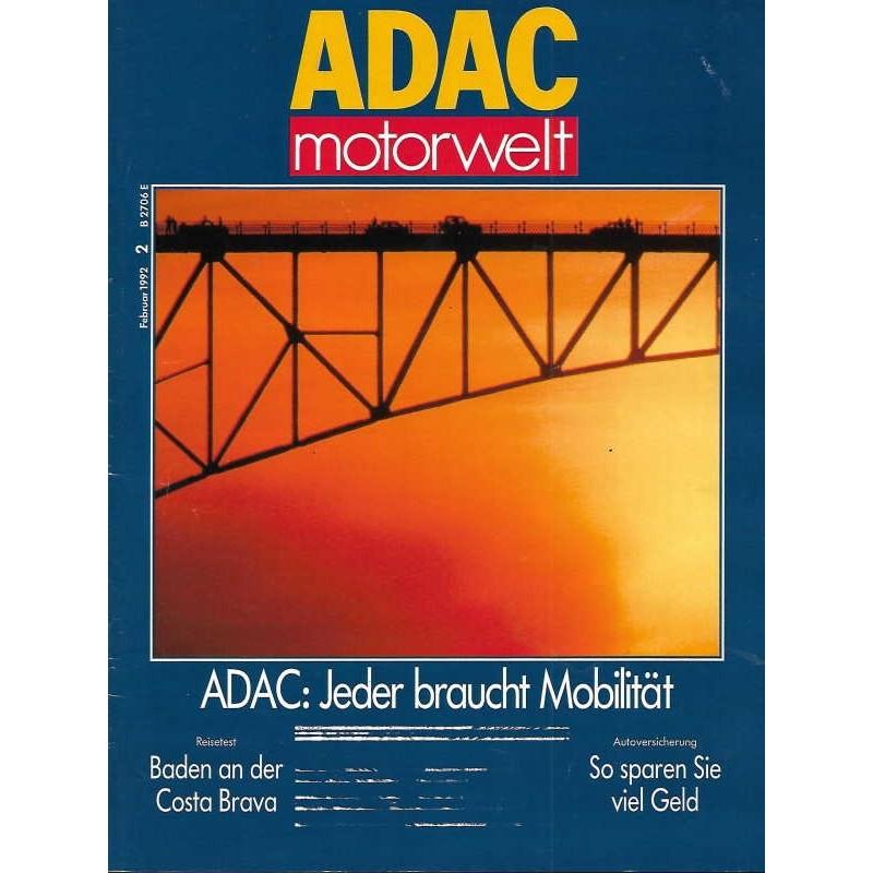ADAC Motorwelt Heft.2 / Februar 1992 - Jeder braucht Mobilität