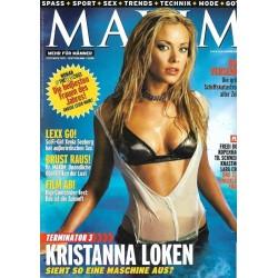 MAXIM September 2003 - Kristinna Loken
