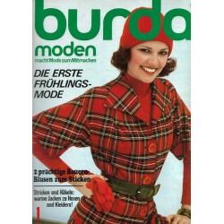 burda Moden 1/Januar 1975 - Die erste Frühlingsmode