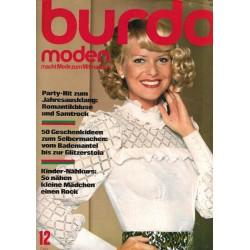 burda Moden 12/Dezember 1974 - Romantikbluse & Samtrock