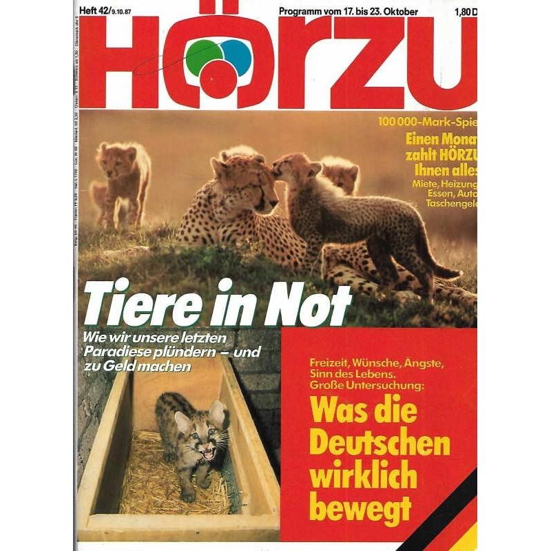 HÖRZU 42 / 17 bis 23 Oktober 1987 - Tiere in Not!