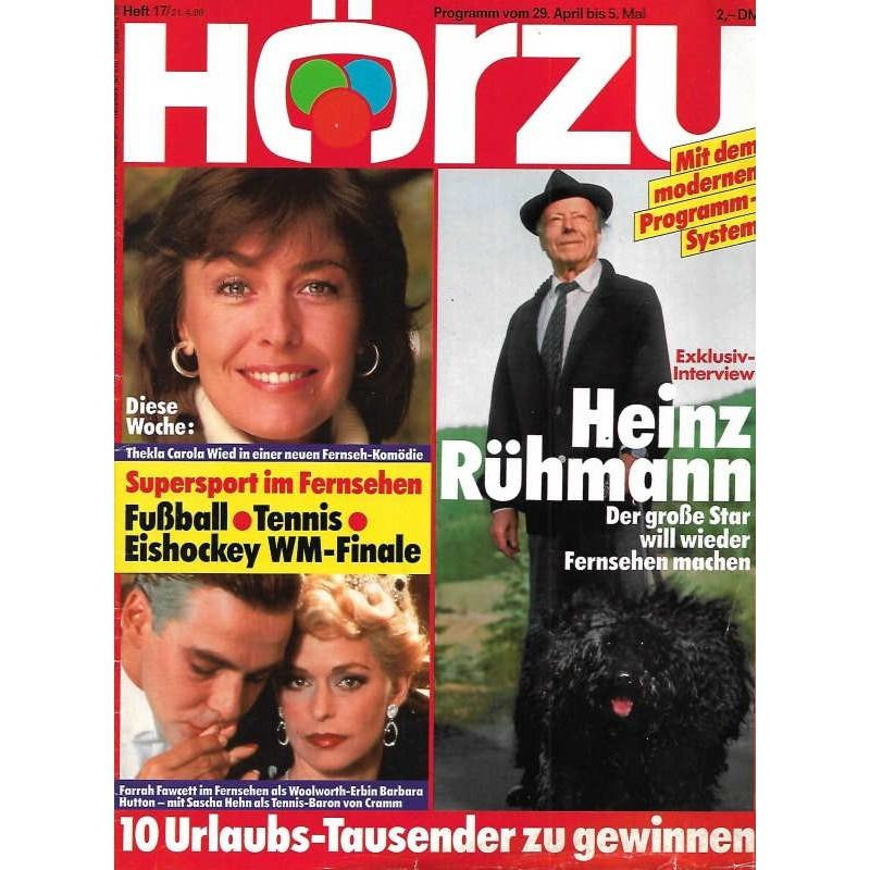 HÖRZU 17 / 29 April bis 5 Mai 1989 - Heinz Rühmann