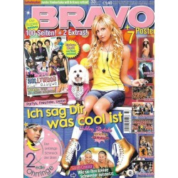 BRAVO Nr.33 / 6 August 2008 - Ashley Tisdale spricht in Bravo