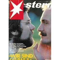 stern Heft Nr.41 / 5 Oktober 1978 - Wir sind Schwul