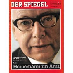 Der Spiegel Nr.27 / 30 Juni 1969 - Heinemann im Amt