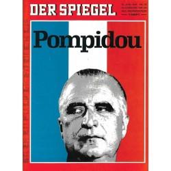 Der Spiegel Nr.25 / 16 Juni 1969 - Pompidou