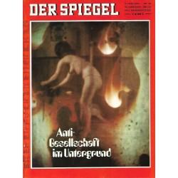 Der Spiegel Nr.24 / 9 Juni 1969 - Anti Gesellschaft im Untergrund