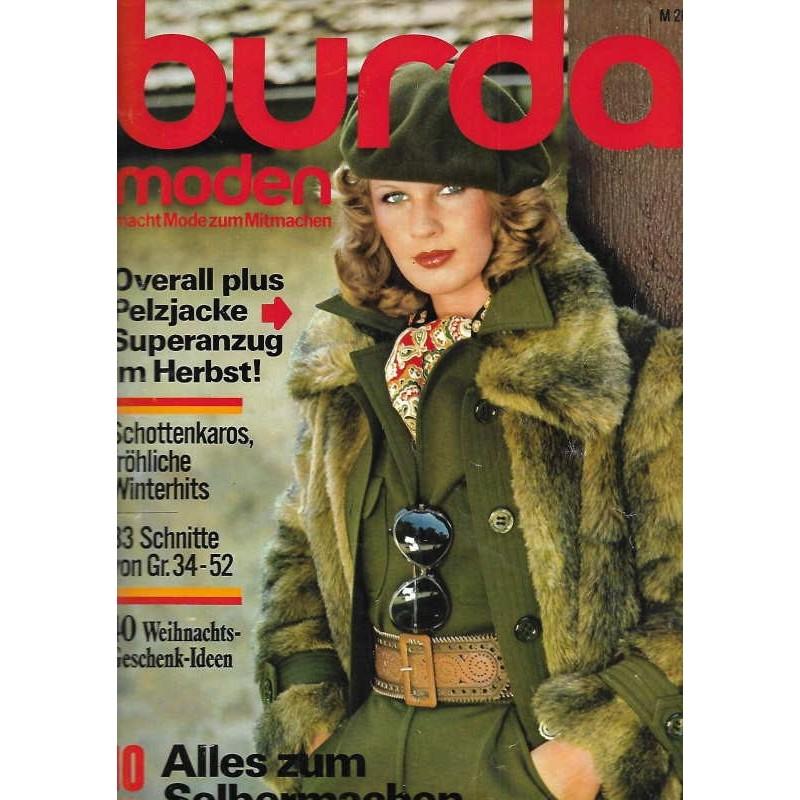 burda Moden 10/Oktober 1975 - Overall plus Pelzjacke