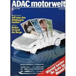 ADAC Motorwelt Heft.4 / April 1984 - Wieviel kostet ihr Auto?