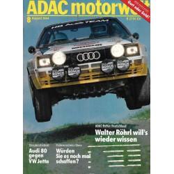 ADAC Motorwelt Heft.8 / August 1984 - Rallye Deutschland
