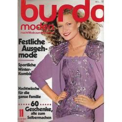 burda Moden 11/November 1980 - Festliche Ausgehmode