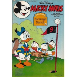 Micky Maus Nr. 28 / 7 Juli 1981 - Dschungel Marsch