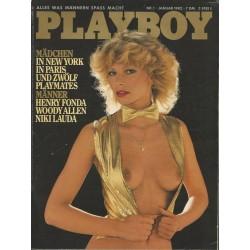 Playboy Nr.1 / Januar 1982 - Playmate Gabi Schüdel