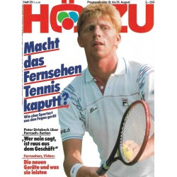 HÖRZU 33 / 19 bis 25 August 1989 - Boris Becker / Tennis