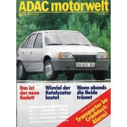 ADAC Motorwelt Heft.9 / September 1984 - Das ist der neue Kadett