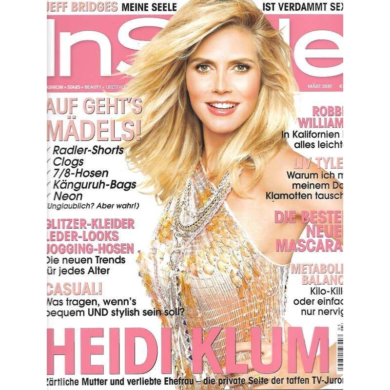 InStyle 3/März 2010 - Heidi Klum / Casual!