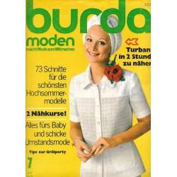burda Moden 7/Juli 1971 - Turban nähen