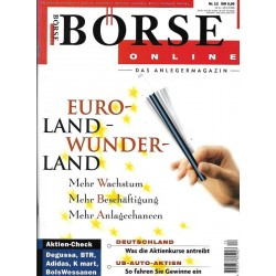 Börse Online Nr. 12 / 12 März 1998 - Euro Land Wunder