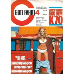 Gute Fahrt 4/1970 - Vor dem Urlaub
