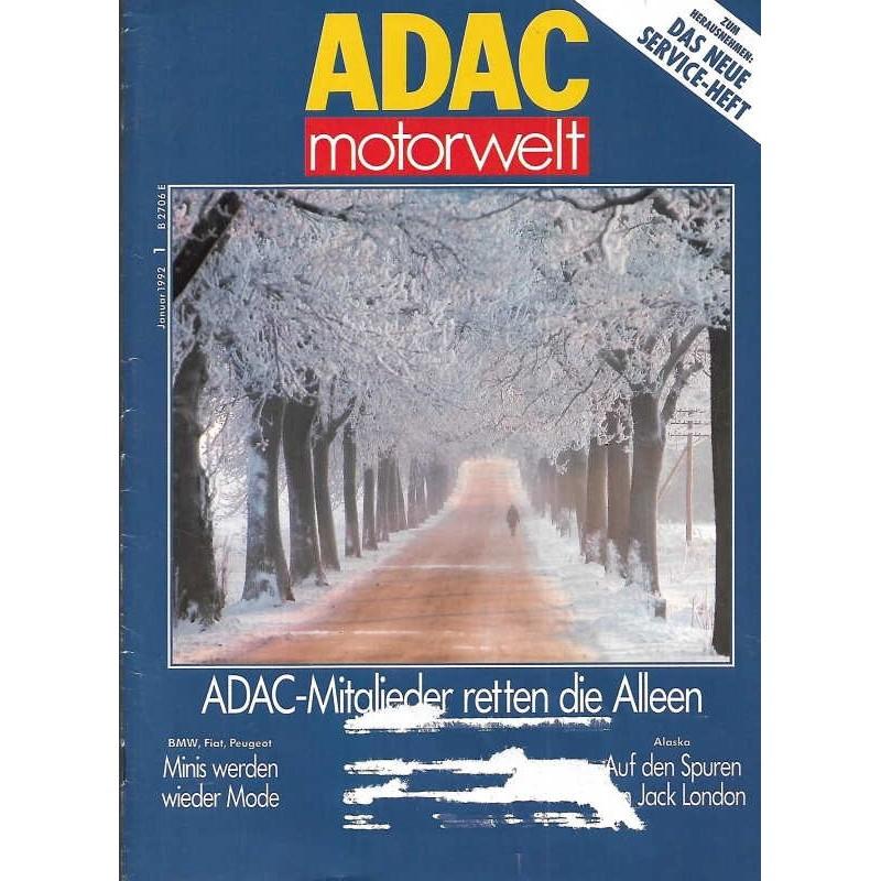 ADAC Motorwelt Heft.1 / Januar 1992 - Mitglieder retten die Alleen