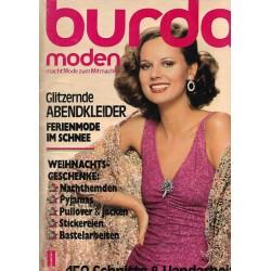 burda Moden 11/November 1976 - Glitzernde Abendkleider