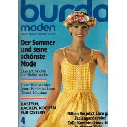 burda Moden 4/April 1976 - Der Sommer und die Mode