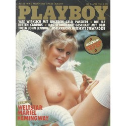 Playboy Nr.4 / April 1984 - Mariel Hemingway