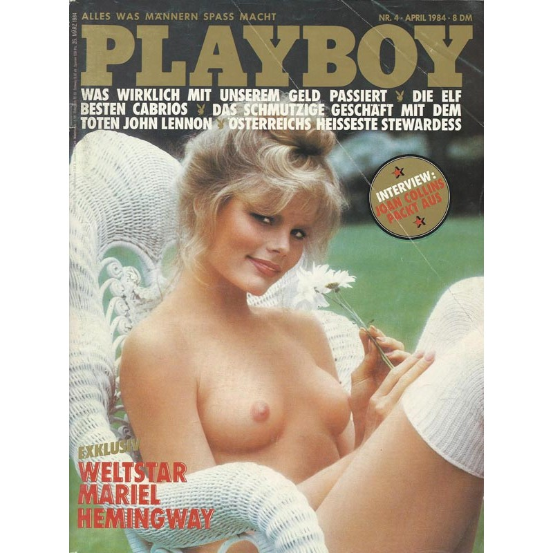 Playboy Nr.4 / April 1984 - Mariel Hemingway