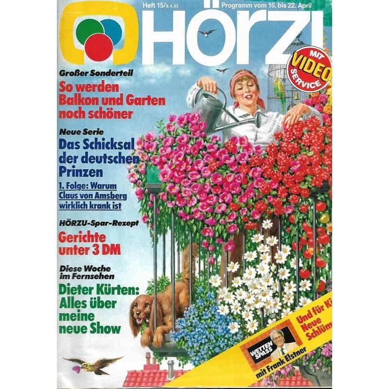 HÖRZU 15 / 16 bis 22 April 1983 - Balkon und Garten