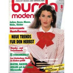 burda Moden 8/August 1987 - Neue Trends für den Herbst