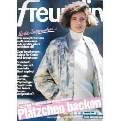 freundin Heft 25 / 18 November 1986 - Mode Information