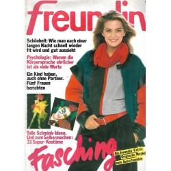 freundin Heft 2 / 4 Januar 1984 - Fasching