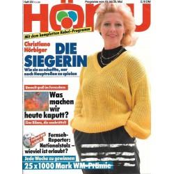 HÖRZU 20 / 19 bis 25 Mai 1990 - Christine Hörbiger