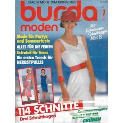 burda Moden 7/Juli 1987 - Mode für Partys
