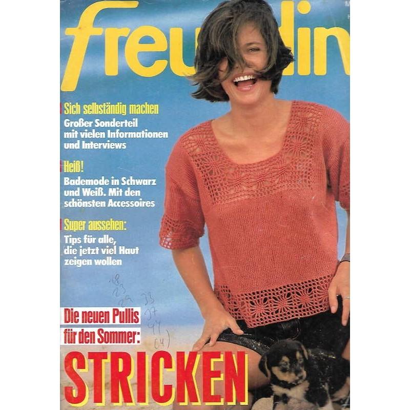 freundin Heft 11 / 9 Mai 1990 - Stricken