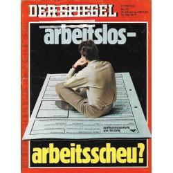 Der Spiegel Nr.21 / 16 Mai 1977 - Arbeitslos Arbeitsscheu?
