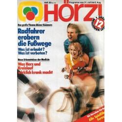 HÖRZU 30 / 31 Juli bis 6 August 1982 - Radfahrer