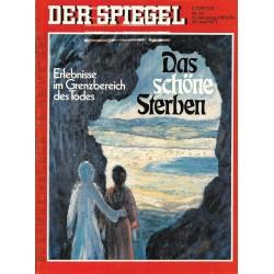 Der Spiegel Nr.26 / 29 Juni 1977 - Das schöne Sterben