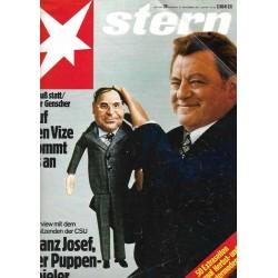 stern Heft Nr.39 / 16 September 1976 - Strauß statt oder Genscher