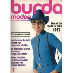 burda Moden 1/Januar 1971 - Mode im Frühling