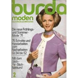 burda Moden 2/Februar 1971 - Frühling und Sommermode