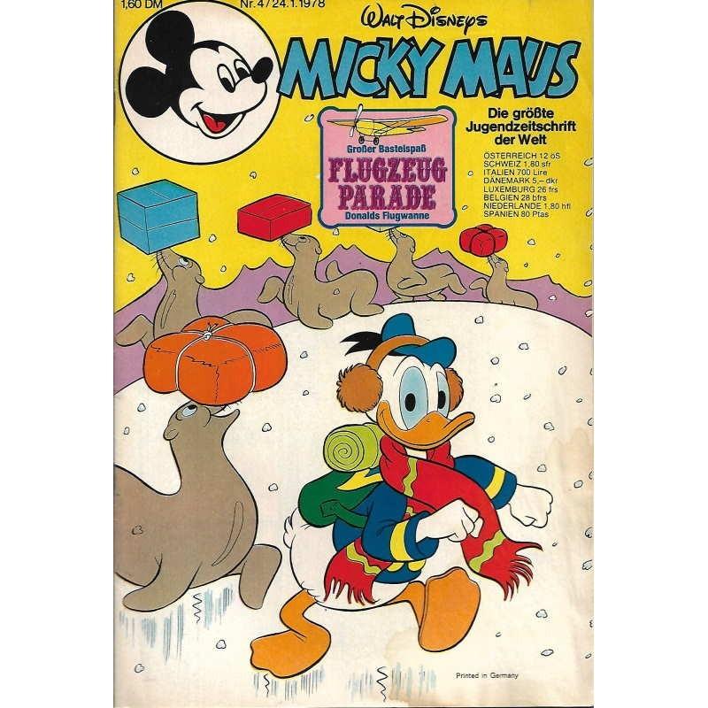 Micky Maus Nr. 4 / 24 Januar 1978 - Flugzeug Parade