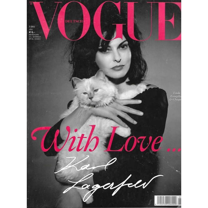 Vogue 7/Juli 2013- Linda Evangelista With Love