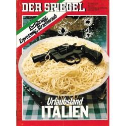 Der Spiegel Nr.31 / 25 Juli 1977 - Urlaubsland Italien