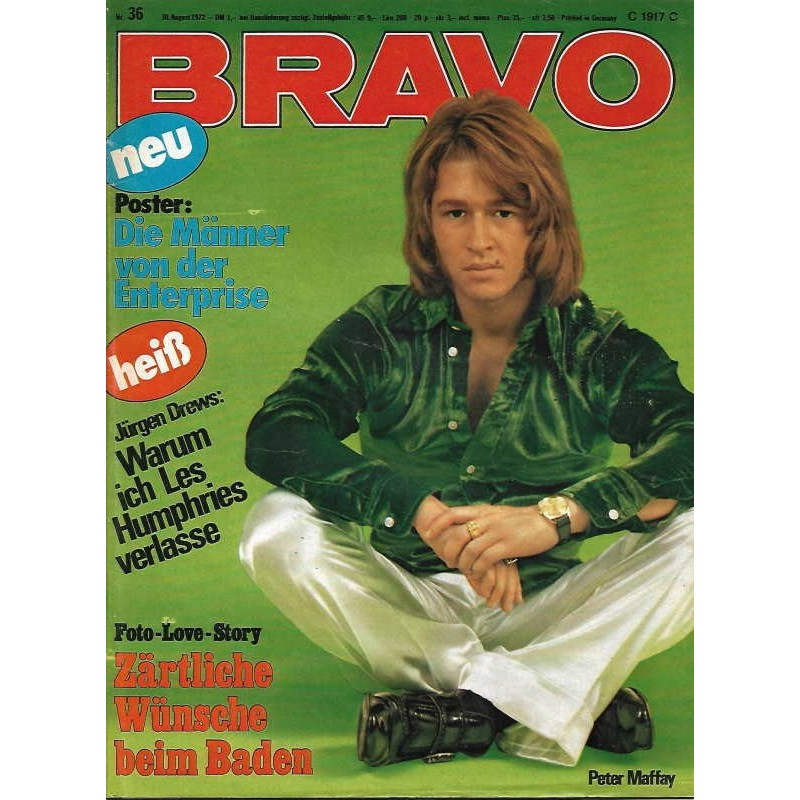 BRAVO Nr.36 / 30 August 1972 - Peter Maffay