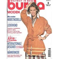 burda Moden 8/August 1994 - Lederhemd